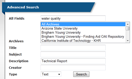 searching for technical reports